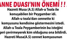 ANNE DUASI'NIN ÖNEMİ