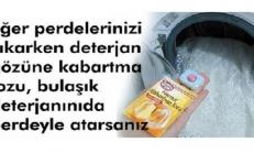 Perde yıkarken kabartma tozu kullanırsanız