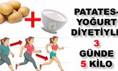 Patates Yoğurt Diyeti İle 3 Günde 5 Kilo Verin