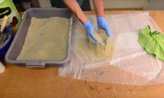 Kadın Çimento Ve Yaprak İle Bakın Ne Kadar Harika Bir Yaprak Biblosu Yaptı.