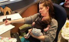 Bebeğini İşe Getirmek Z-orunda Kaldı – Patronunun Verdiği T-epkiyle Dünya Gündemine Düştü