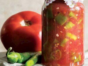 Biberli domates konservesi tarifi