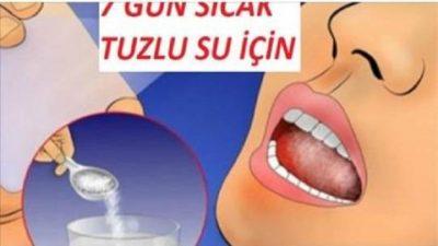 """Uzmanlar : """" 7 Gün Sıcak Tuzlu Su İçin ! Vücudun Her Hücresini İyileştirebilirsiniz""""diyor"""