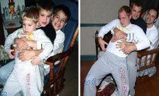 Üç Kardeş Çocukluk Fotoğraflarını Yeniden Canlandırdılar – Görenler Kahkaha Atıyor
