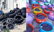 Hayvansever Eskimiş Tekerlekleri Sokak Hayvanlarının Uyuyabilecekleri Yataklara Dönüştürerek 6 Binden Fazla Hayvana Yardım Etti