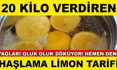 1 Ayda 20 Kilo Verdiren Haşlanm-ış Limon Tarifi.