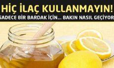 Öksürük İçin Bal ve Limon