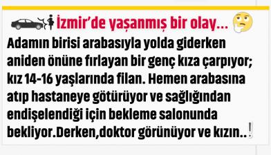 İzmir'de yaşanmış bir olay…
