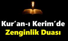 Kuran-ı Kerimde zengin olma duası