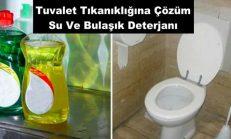 Tuvalet Tıkanıklığına Çözüm Su Ve Bulaşık Deterjanı
