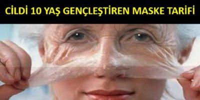 Cildi 10 Yaş Gençleştiren Maske Tarifi