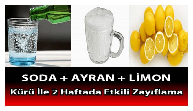 MADEN SUYU + AYRAN + LİMON KÜRÜ İLE 2 HAFTADA GÖBEK YAĞLARINI ERİT